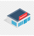 supermarket building isometric icon vector image