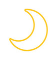 moon quarter waning cartoon vector image