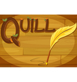 A frame with a quill label vector image vector image