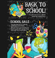 back to school stationery sale sketch vector image vector image