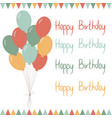baloons-happy-birthday vector image