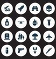 battle icons set collection of order glass vector image vector image