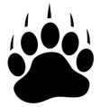 bear paw print vector image vector image