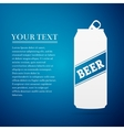 Beer Can flat icon on blue background vector image vector image
