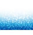 bokeh lights on blue background winter design vector image vector image