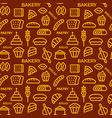 bread seamless pattern vector image vector image