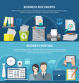 business items flyer set vector image vector image
