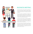 business meeting poster with profit presentation vector image