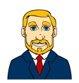 Businessman with beard vector image