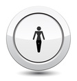 Button with Man vector image vector image