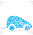 car design with blue gear stock vector image