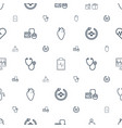 cardiology icons pattern seamless white background vector image vector image