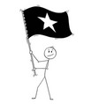 cartoon of man waving the flag of socialist vector image vector image