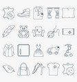 collection of outline dry cleaning icons set of vector image