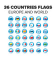 countries flags set vector image