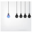 Creative light bulb Idea concept background vector image