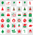 Cute christmas icons
