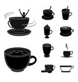 design of cup and coffe symbol set of cup vector image