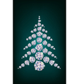 diamond christmas tree vector image vector image