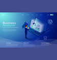digital marketing design concept with laptop vector image vector image