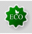 Eco label of organic natural food vector image