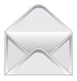 Empty postal envelope vector image vector image