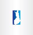 finland logo map icon vector image vector image