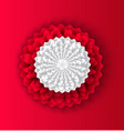 flower decoration made of paper chinese style vector image vector image