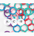 geometrical circles on white with shadows vector image vector image