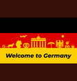 germany background design traditional vector image vector image