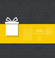 Gift box on a narrow banner vector image vector image