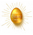 golden easter egg with hand painting patterns vector image vector image