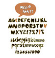 hand drawn retro color font vector image vector image