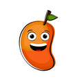 happy mango cartoon character emote vector image