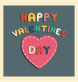 happy valentines day card sticker heart vector image vector image