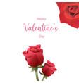 happy valentines day valentine vector image vector image