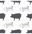 Hipster style pig seamless pattern Pork meat hand vector image vector image