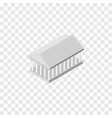 isolated acropolis isometric athens vector image vector image