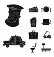 isolated object airport and airplane symbol vector image vector image