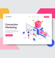 landing page template of conversion marketing vector image vector image