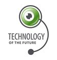 logo cyber robot eye vector image vector image