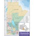 Map of Manitoba vector image vector image