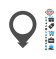 map pointer icon with free bonus vector image vector image