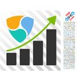 nem growth chart flat icon with bonus vector image vector image