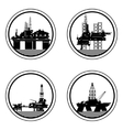 Oil platforms vector image