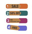 Old paper banners stickers badges vector image