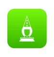 pierrot clown icon digital green vector image vector image