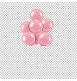 pink balloons bouquet transparent background vector image vector image