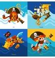 Pirates 2x2 Design Concept Set vector image vector image