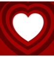 Red spiral heart - vector image